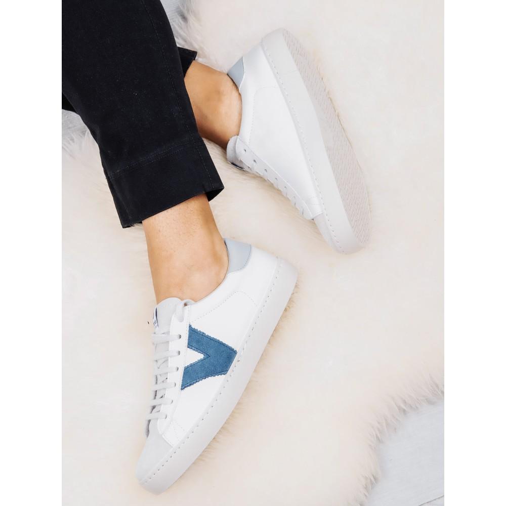 Victoria Shoes Berlin Classic Victoria V Leather Trainer Azul Blue 36