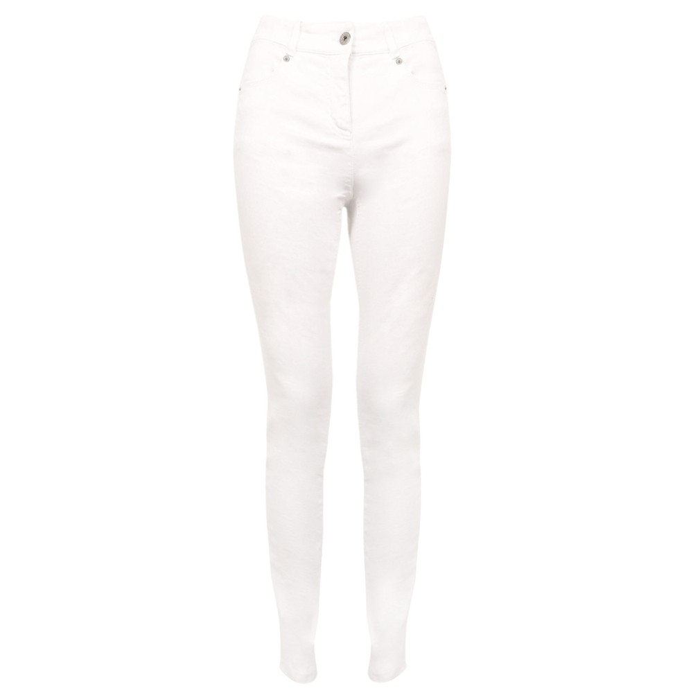 Robell Star 09 WhitePower Stretch Cropped Skinny jean White
