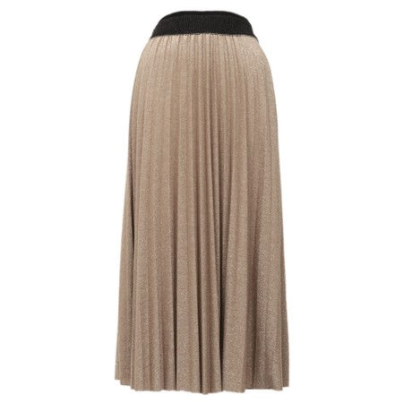 Luella Sparkle Pleated Skirt - Gold
