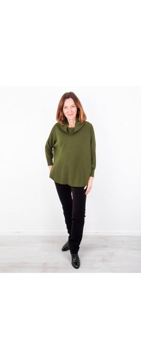 Amazing Woman Vera Oversized Knit Jumper Khaki