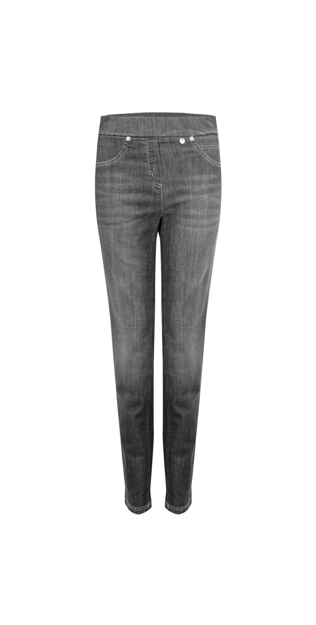 Rose Slim Fit Washed Dark Grey Denim Jean main image