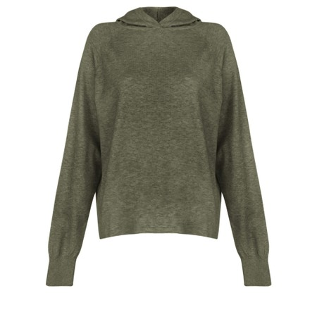 Chalk Hannah Supersoft Knit Hoodie - Green