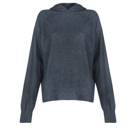 Chalk Hannah Supersoft Knit Hoodie - Blue