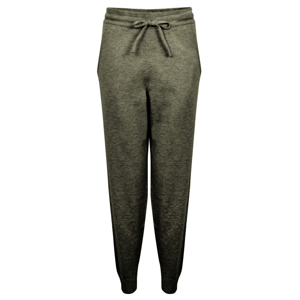 Chalk Lucy Supersoft Knit Lounge Pant Dark Olive