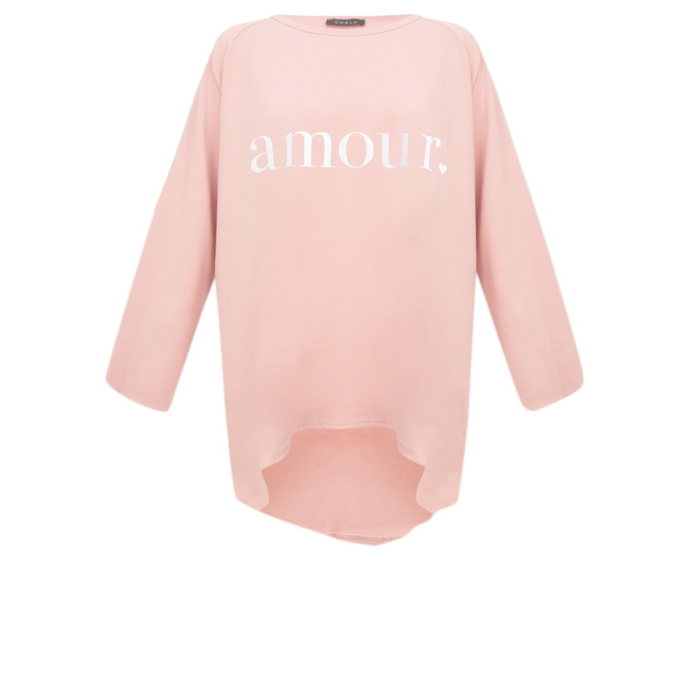 Chalk Robyn Amour Top Pink / White