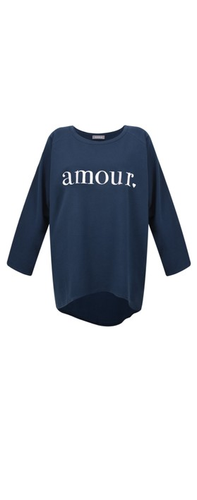 Chalk Robyn Amour Top Navy / White