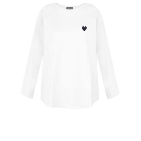 Chalk Tasha Heart Top - White