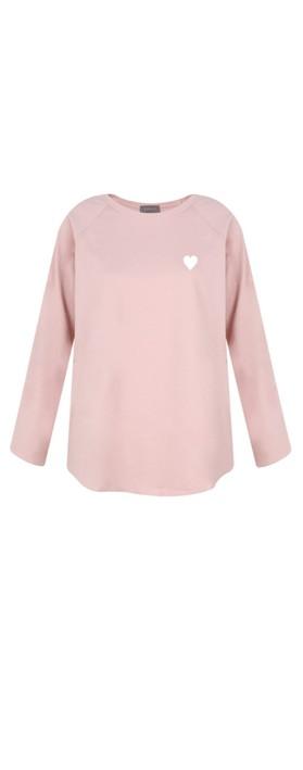 Chalk Tasha Heart Top Pink / White