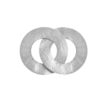 Rosanna Barcelona Stone Linked Disc Brooch - Silver