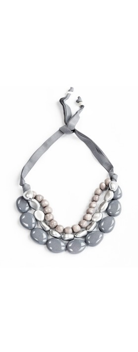 Rosanna Barcelona Praga Resina Necklace  Anthracite