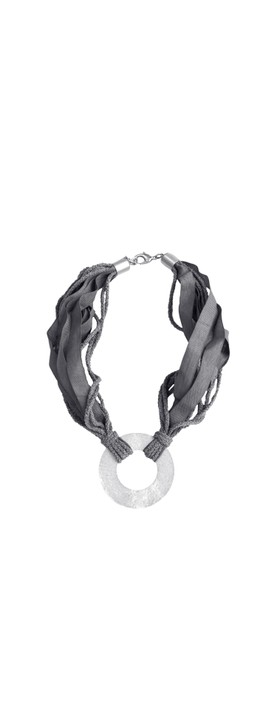 Rosanna Barcelona Stone Disc Necklace  Anthracite