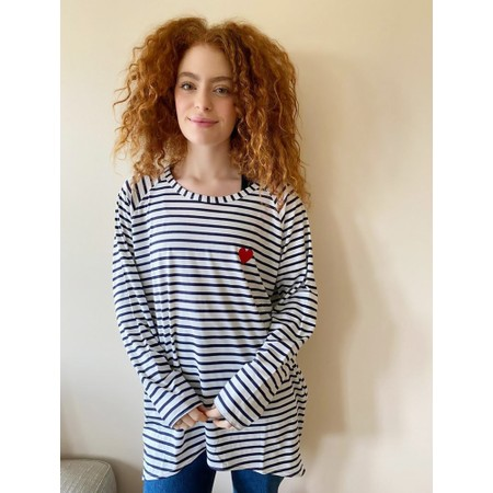 Chalk Robyn Stripe Heart Top - Multicoloured