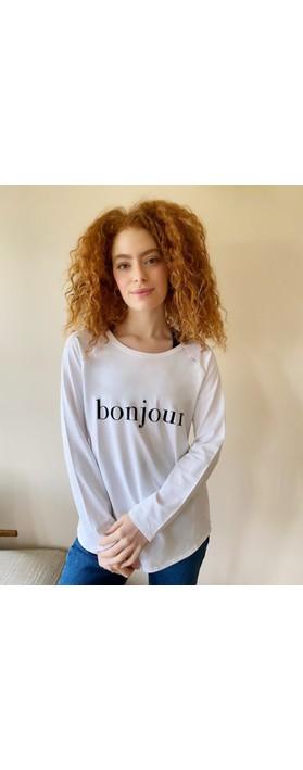 Chalk Tasha Bonjour Top - Gemini Exclusive ! White / Black