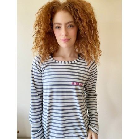 Chalk Tasha Stripe Amour Top - Grey