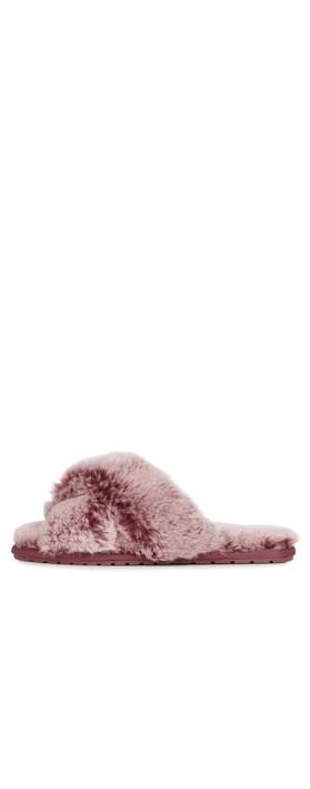 EMU Australia Mayberry Frost Sheepskin Slider Slipper Burnt Rust