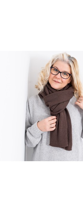Amazing Woman Coby Supersoft Scarf Dark Chocolate