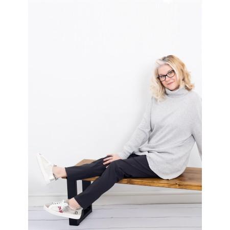 Robell Bella  Anthracite Slim Fit 78cm Full Length Trouser - Grey