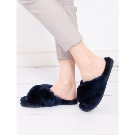 EMU Australia Mayberry Midnight Sheepskin Slider Slipper - Blue