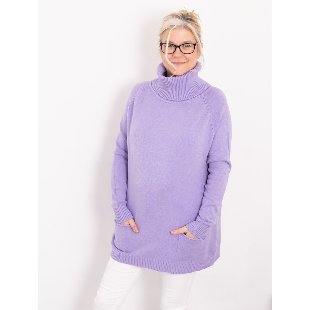 Amazing Woman  Anna Two Pocket Relaxed Fit Jumper Violet