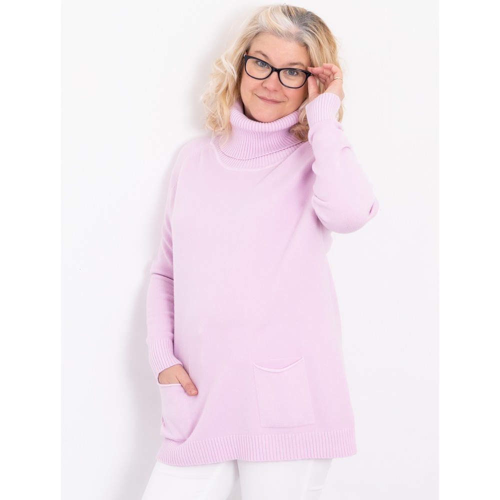 Amazing Woman Anna Two Pocket Relaxed Fit Jumper Pale Pink