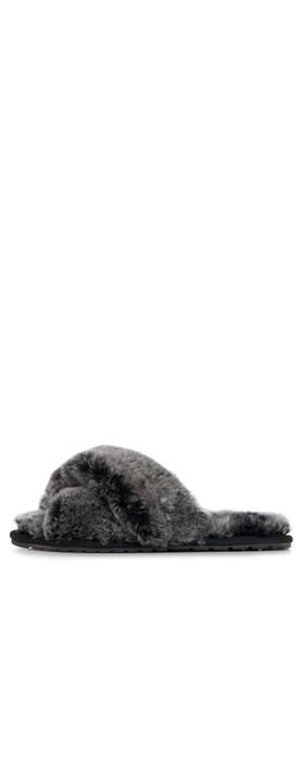 EMU Australia Mayberry Frost Sheepskin Slider Slipper Black
