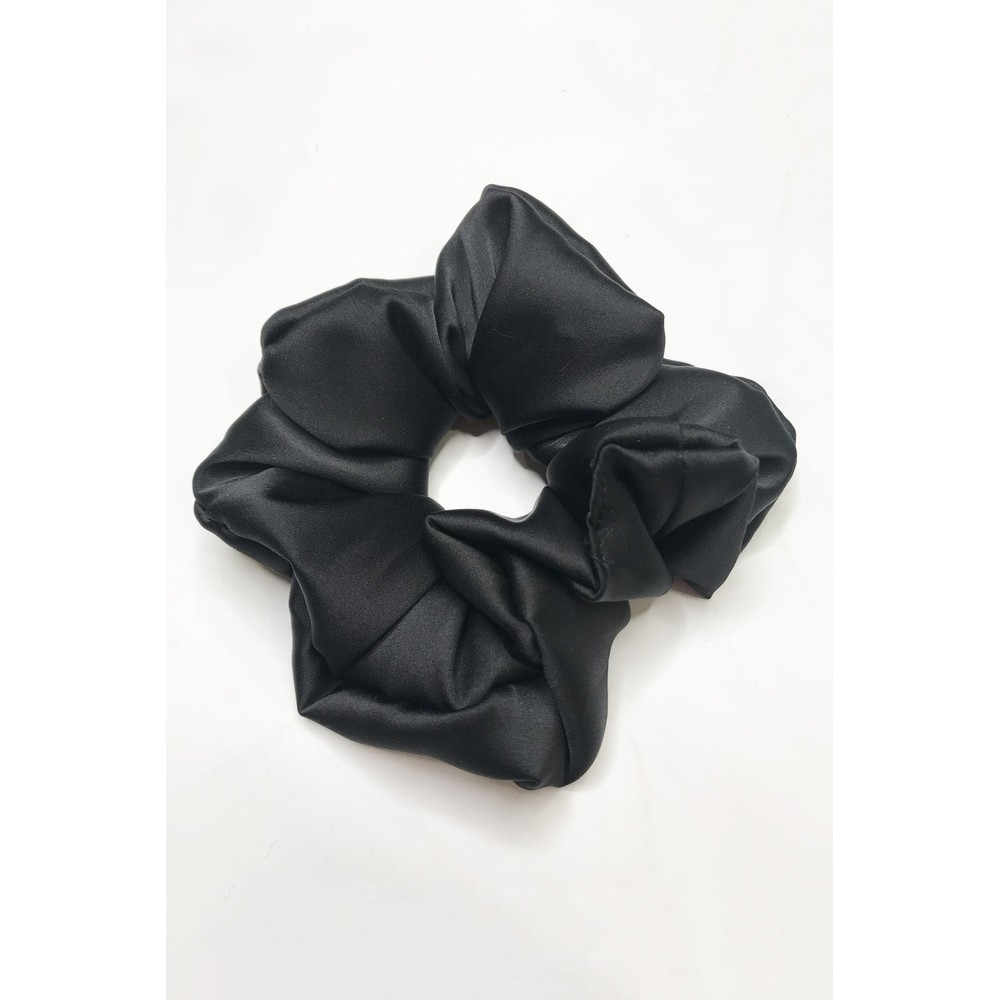 Gemini Label Accessories Misty Silk Blend Face Eye Mask Scrunchie Set  Black