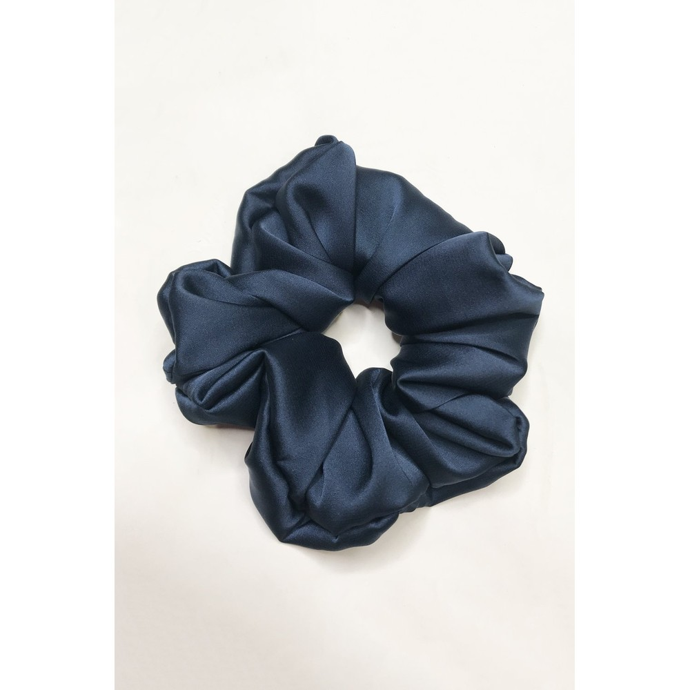 Gemini Label Accessories Misty Silk Blend Face Eye Mask Scrunchie Set  Blue