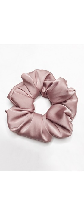 Gemini Label Accessories Misty Silk Blend Face Eye Mask Scrunchie Set  Pink