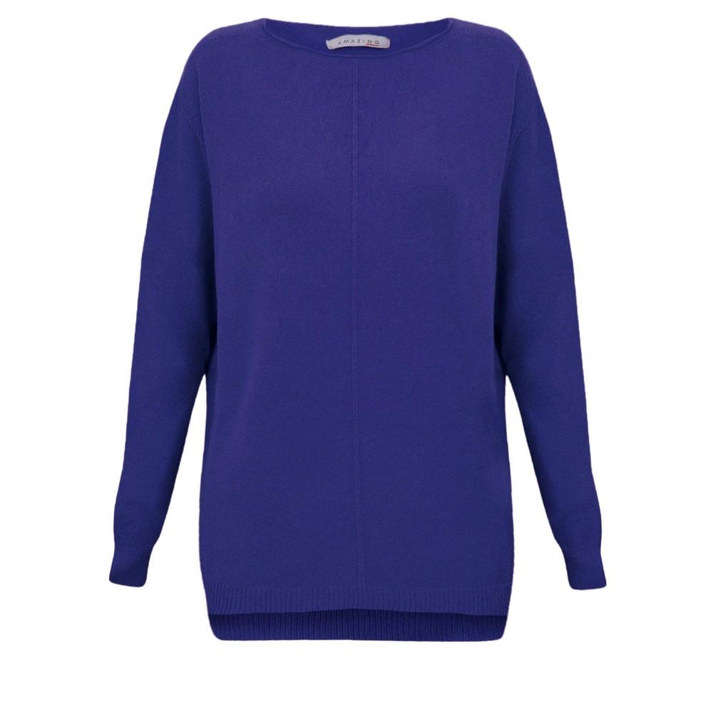 Amazing Woman Maggie Seam Front Supersoft Jumper Blusa Blue