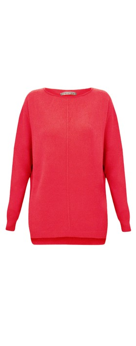 Amazing Woman Maggie Seam Front Supersoft Jumper Coral Red
