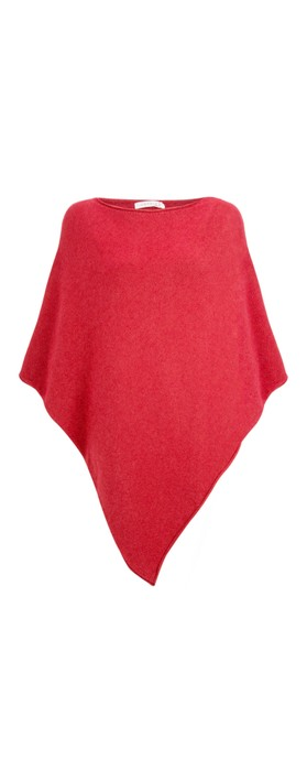 Amazing Woman Poncho in Supersoft Knit  Coral Red