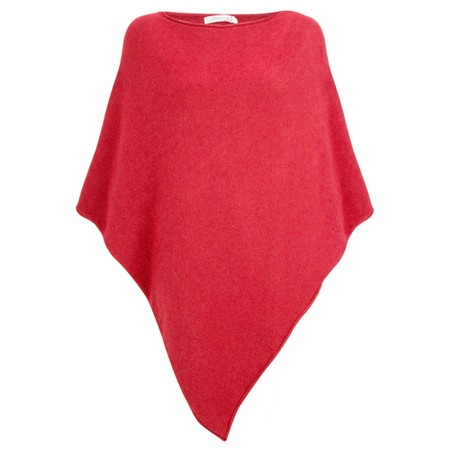 Amazing Woman Poncho in Supersoft Knit  - Red