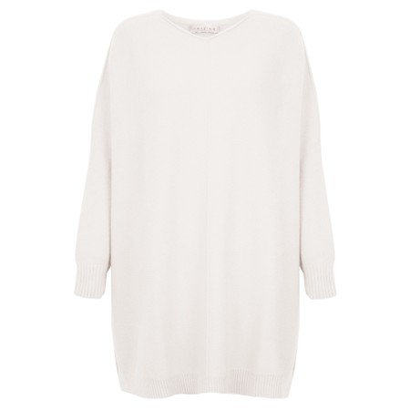 Amazing Woman Cassi X Round Neck Front Seam Knit - Off-White