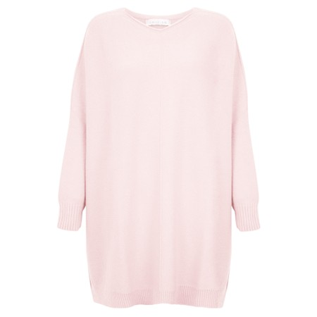 Amazing Woman Cassi X Round Neck Front Seam Knit - Pink