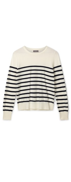 Chalk Jane Jumper Ecru / Navy