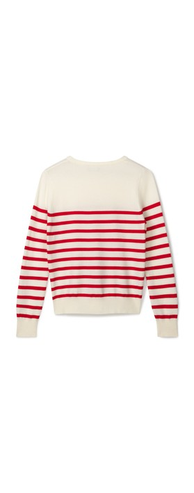 Chalk Jane Jumper Ecru / Red