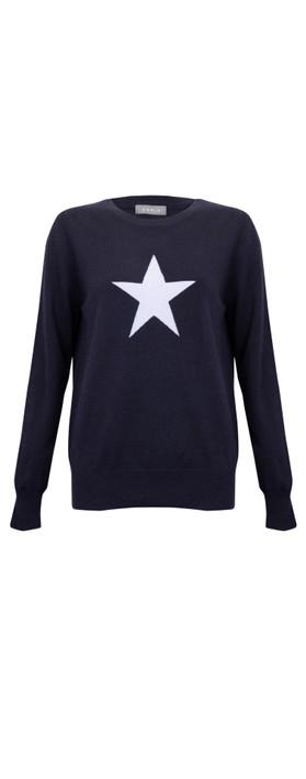 Chalk Taylor Star Jumper Navy