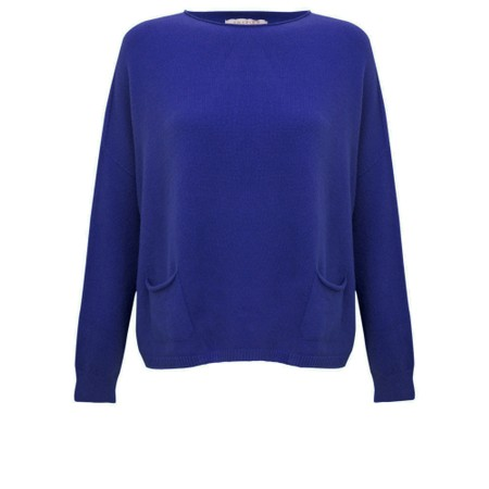 Amazing Woman Jodie Front Pocket Supersoft Knit Jumper - Blue