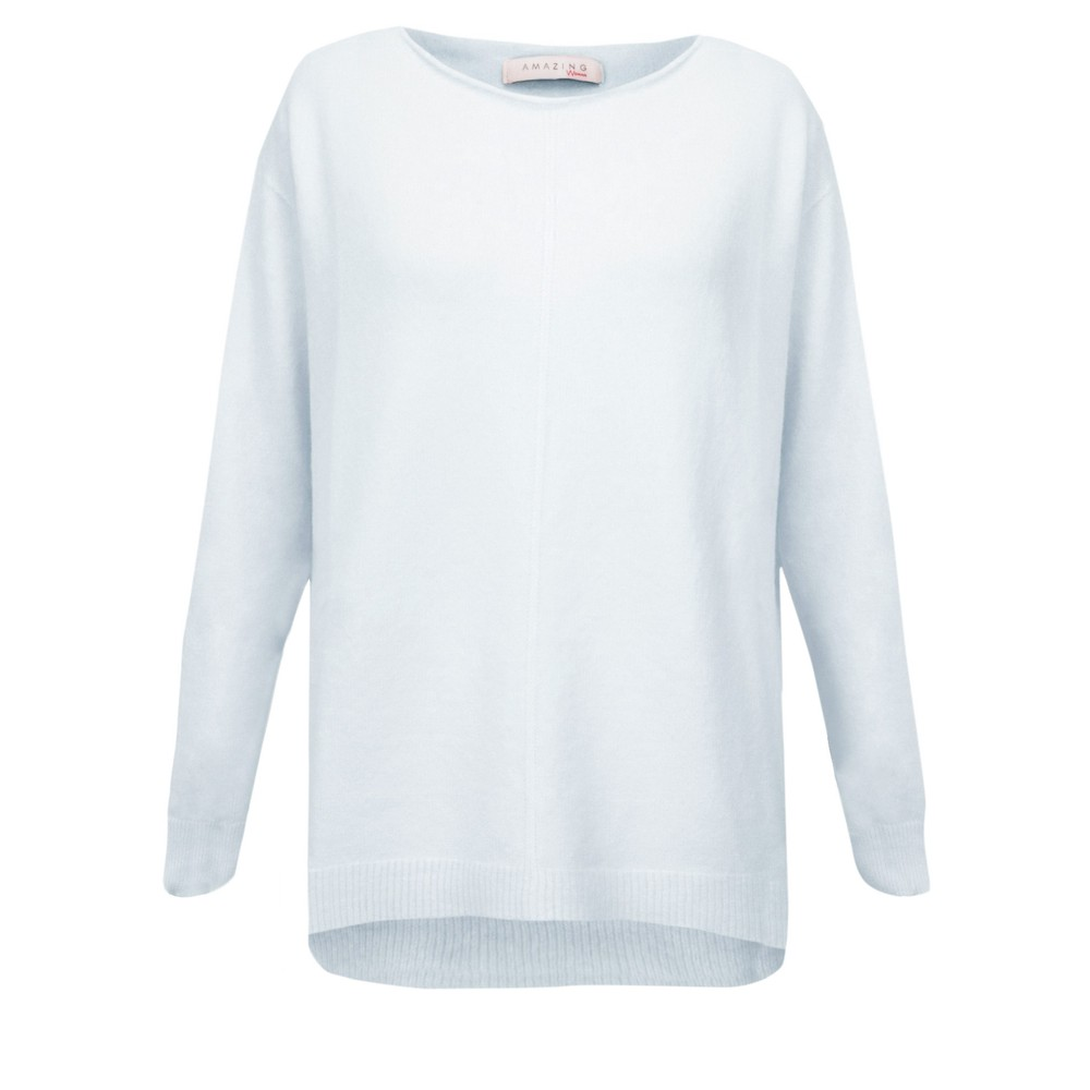 Amazing Woman Maggie Seam Front Supersoft Jumper Pale Blue