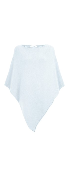 Amazing Woman Poncho in Supersoft Knit  Pale Blue