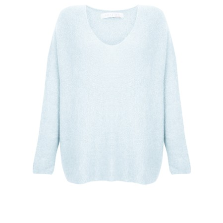 Amazing Woman Cadee V Neck Oversized Cosy Knit - Blue