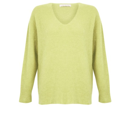 Amazing Woman Carin V Neck Cosy Knit - Green