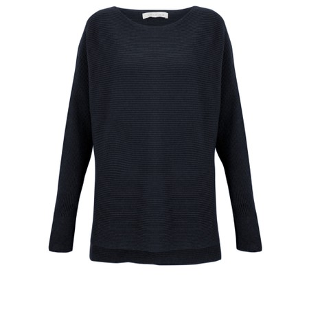 Amazing Woman Celia Round Neck Ribbed Knit - Blue