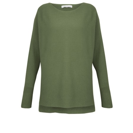 Amazing Woman Celia Round Neck Ribbed Knit - Green