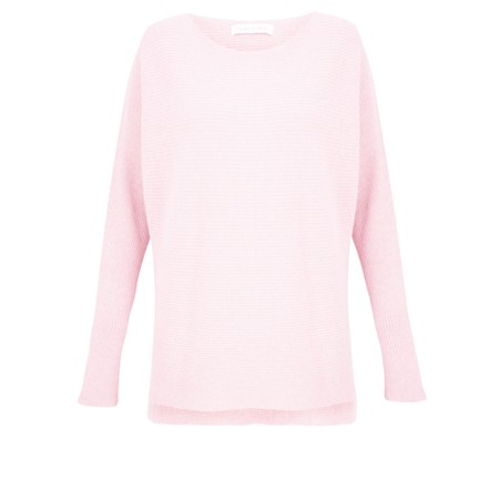 Amazing Woman Celia Round Neck Ribbed Knit - Pink