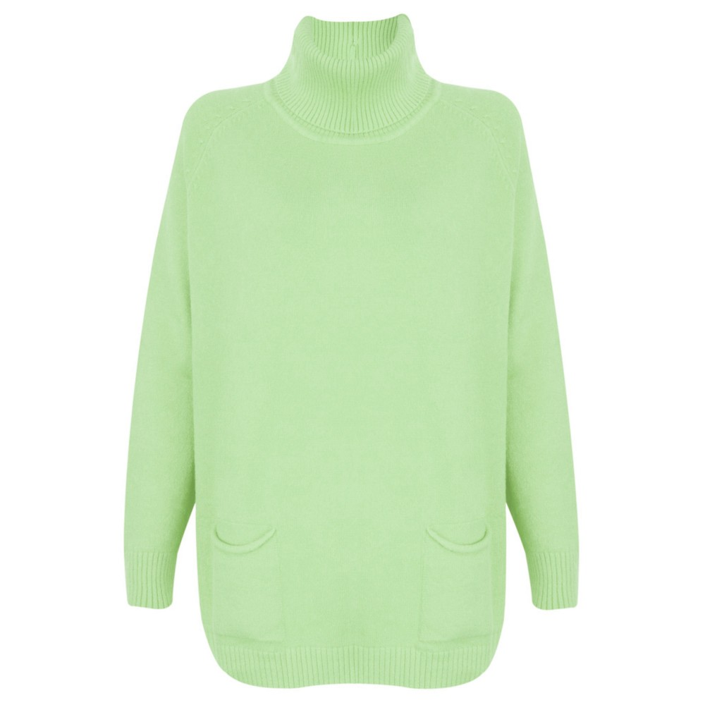 Amazing Woman Anna Two Pocket Relaxed Fit Jumper Mint Green