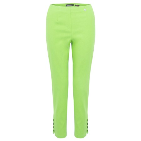 Robell Lena Lime Ankle Detail Cropped Trouser - Green