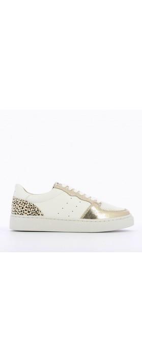 Vanessa Wu Chrissy Trainer White / Gold / Leopard