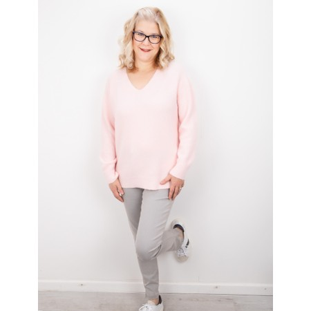 Amazing Woman Carin V Neck Cosy Knit - Pink