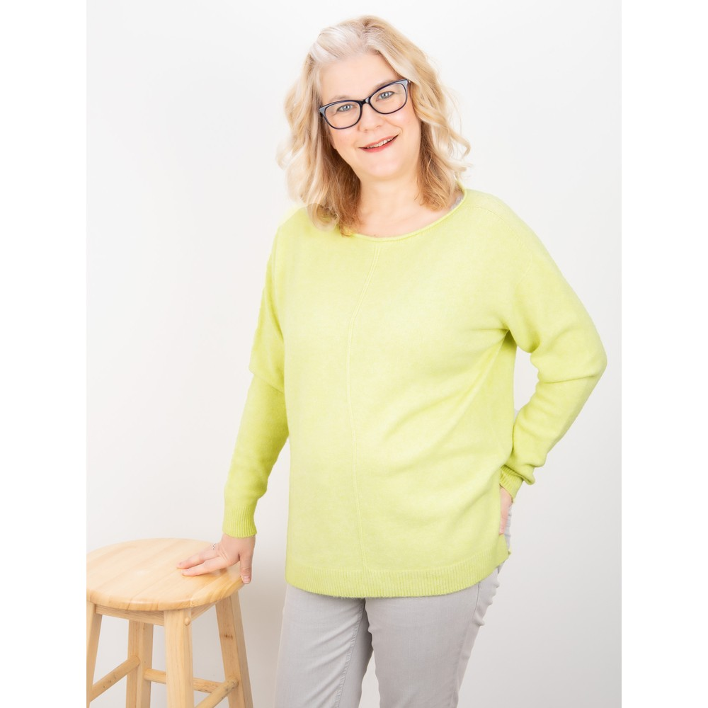 Amazing Woman Maggie Seam Front Supersoft Jumper Pistachio
